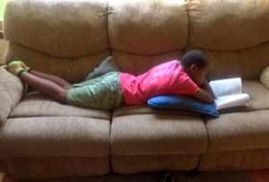 My summer-reading son