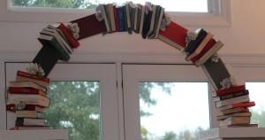 book arch close up