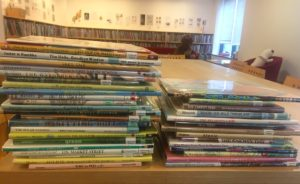 stacks of picture books